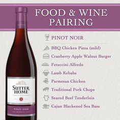Sutter Home Wine & Food Pairing Series: Pinot Noir #winewednesday #ww