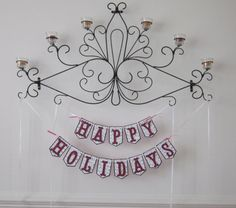Happy Holiday Dbl. Strand Banner - $15.00
