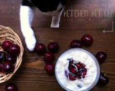 Sweet Cardamom Rice Pudding with Cherry & Coconut