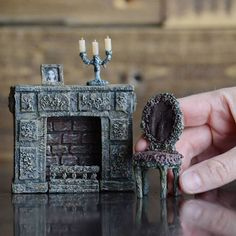 A set of furniture for my haunted house. Made of papier- mache. Мебель для моего дома с привидением.Сделана из папье-маше #miniature #dollhouse #dollhousefurniture #dollsfurniture #tinythings #dollhouseminiatures #candles #fireplace #minis #craft #minifurniture #handmade #papiermache #pocketplots_124 #миниатюра #кукольнаяминиатюра #миниатюрнаямебель #минимебель #ручнаяработа #мебельдлякукол