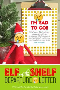 """This is a really fun (quick and easy!) Elf on the Shelf Arrival idea! Just grab this free printable """"DONUT Worry, I'm Back!"""" letter and some donuts and you are all set for your Elf's first morning back!! #elfontheshelf #christmas #arrival #ideas #letter"""