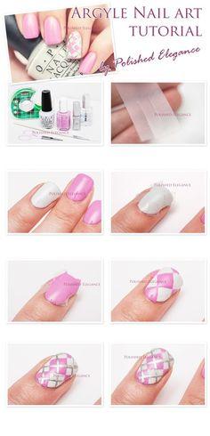 Stylish Argyle Nail Art Tutorial