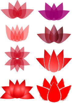 This is a really interesting logo development. I like how the visual image changes with various uses of colors, implied textures, shapes, angles and overlapping. Each flower logo is uniquely different and could be used for various purposes. Lotus House Logo Development