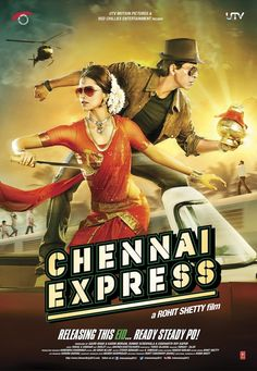 Chennai Express - I loved Chennai Express! we get to see who is most likely Shahrukh's alter ego, the comedian. His comic timing is fabulous and Deepika astounds us in her comic hindi speaking South Indian avatar.