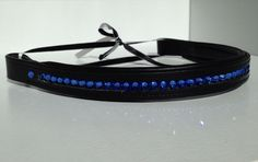 Single row Browband with Swarovski Crystal Sapphire. For more information go to www.blingyourgg.com