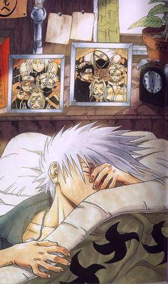 Naruto » Fanart + <3 | Kakashi sleeping | #kakashi ~I love those two photographs he has