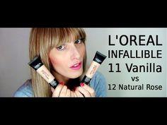 L'Oreal Infallible 11 Vanilla vs 12 Natural Rose | MICHELA ismyname ❤️