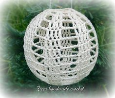 Crochet christmas ball ornament diagram.