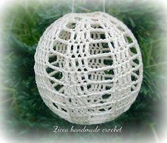 Crochet christmas ball ornament diagram.