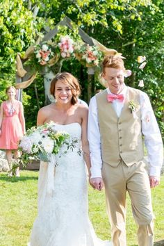 #EnzoaniRealBride Katie's gorgeous peach wedding!