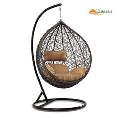 This wicker & rattan swing chair is made of all weather wicker, sturdy and durable rust-free iron frame, ideal for indoor & outdoor entertainment! Rattan, Wicker, Swinging Chair, Outdoor Entertaining, Indoor Outdoor, Elegant, Hot, Design, Home Decor