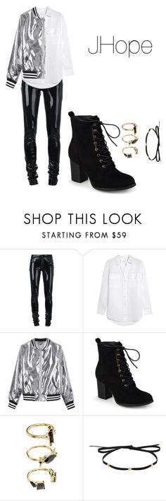"""Untitled #109"" by teonav ❤ liked on Polyvore featuring Anthony Vaccarello, Equipment, Sans Souci, Journee Collection, Noir Jewelry and Magdalena Frackowiak"