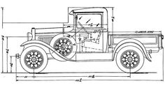 Ford Pickup (1932) | SMCars.Net - Car Blueprints Forum
