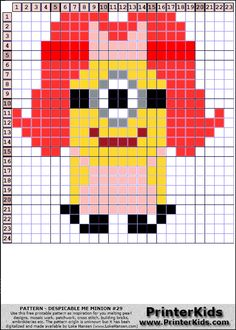 Despicable Me Female Minion perler bead pattern