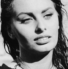 "Sofia Loren on the set of ""Boy on a Dolphin"", 1957."