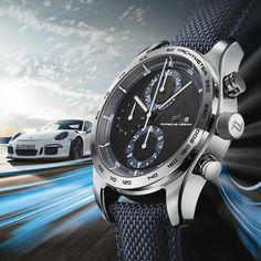 Porsche Design Chronotimer Series 1 Deep Blue Sport Watches, Cool Watches, Watches For Men, Luxury Watches, Rolex Watches, Ad Design, Branding Design, Watches Photography, Watch Ad
