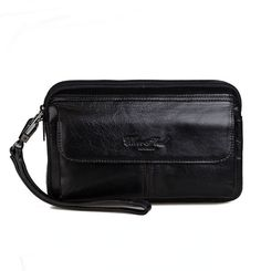 Men Genuine Leather Business Clutch Bags Vintage Mobile Phone Case  Cigarette Purse Pouch Male Handy Bag Card Holder Wallet Review  82c03705f7