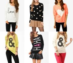 forever 21 sweaters | graphic sweaters via forever 21 | Fashion.