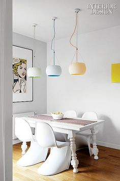 Meeting in the Middle: A Warsaw Apartment Equal Parts Colorful and Minimal
