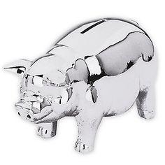 LENOX Reed & Barton: Piggy Banks - Classic Silver Piggy Bank