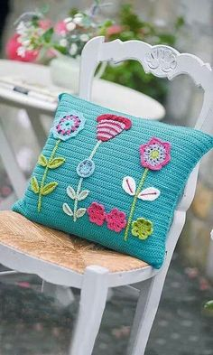 Watch This Video Beauteous Finished Make Crochet Look Like Knitting (the Waistcoat Stitch) Ideas. Amazing Make Crochet Look Like Knitting (the Waistcoat Stitch) Ideas. Crochet Cushion Pattern, Crochet Cushion Cover, Crochet Cushions, Crochet Patterns, Crochet Blocks, Afghan Patterns, Square Patterns, Knitting Patterns, Applique Cushions