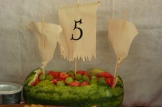 Emmeline's Mermaid Pirate Party - Pirate Ship Watermelon