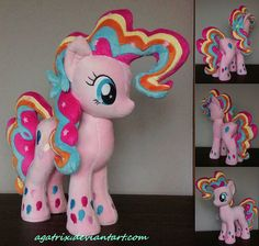 Rainbow Power Pinkie Pie plush by agatrix.deviantart.com on @DeviantArt