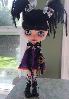 Custom Halloween Blythe Doll OOAK doll named Devi by EmmyBlythe