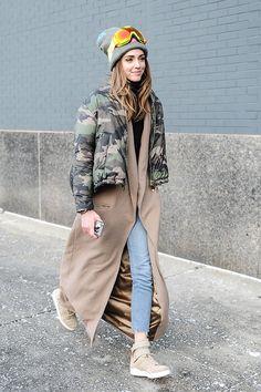 Chiara Ferragni en Valentino (abrigo militaR)