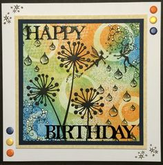 Here is a card I have made for my friends birthday. The background was created using the Gelli Plate.