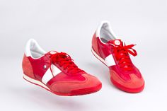 BOTAS 66 Red or Dead Leather Fabric, Sports Shoes, Timeless Design, Smooth Leather, Baby Shoes, Pairs, Urban, Unisex, Classic