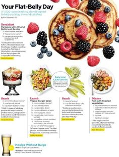 The Flat Belly Day, The 1500 Calorie Plan That Will Leave You Filled Up.