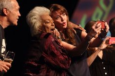 Amanda Tapping & Nichelle Nichols at FedCon 2014  2 of the most inspiring women I have ever had the honour of meeting.   (C) Jessica Rens Photography 2014
