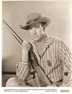 Shotgun Canvas Art - x Western Film, Western Movies, Classic Hollywood, Old Hollywood, Sterling Hayden, Mary Pickford, Le Far West, Classic Movies, Great Pictures