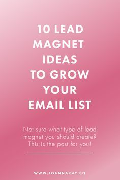I'm super excited to I'm super excited to announce that today's post is a sneak peek from my upcoming ebook: Build Your List! It's coming soon at the end of the month so stay tuned for more details! What is a lead magnet? A lead magnet is a free offer of relevant value to your audience in exchange for contact information or an email address. This can also be referred to as an opt-in incentive signup offer signup incentive or content upgrade. The purpose of a lead magnet is to persuade…