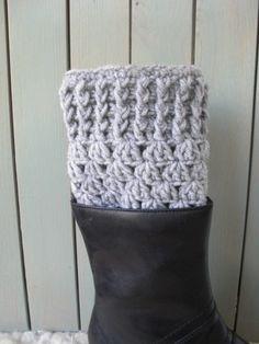 Womens Boot Cuffs  Boot Socks Legwarmers  Crochet Boot by Ebruk, $24.00
