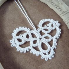 White lace heart hanging decoration Valentine's Day