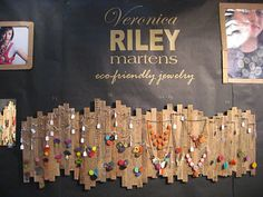 Great way to display jewelry! Jewelry by Veronica Riley Martens of Etsy and logo decal by Single Stone Studios.