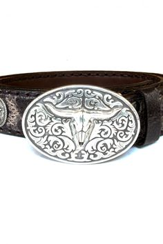 Mens Clothing Accessories: Sendra Leather Belt Barb Quercia in Brown - @ available @ http://bootsjeansandleathers.com/