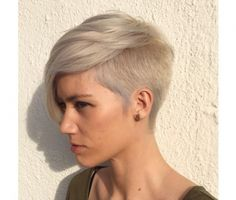 40 Catchy Asymmetric Haircuts for Attention-Grabbing Gals Ash Blonde Pixie With Side Undercut MoreAsh Blonde Pixie With Side Undercut . Short Sides Haircut, Side Haircut, Short Hair Cuts, Short Hair Styles, Short Pixie, Buzzed Pixie, Wavy Pixie, Short Wavy, Asymmetrical Hairstyles