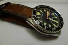 My skx007 on a leather Crown & Buckle Windsor strap