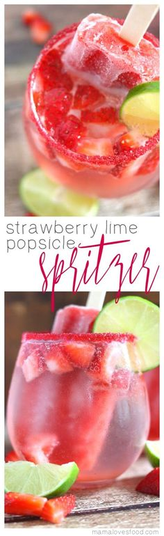 Strawberry Lime Pops