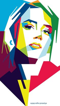 Girl in WPAP by Edho by edhoartwork on DeviantArt – Prescholl Ideas Pop Art Drawing, Cool Art Drawings, Abstract Portrait, Portrait Art, Pop Art Face, Polygon Art, Cubism Art, Pop Art Portraits, Geometric Art