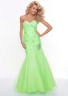 US$239.99 Wholesale Mermaid Green Organza Long Prom Dress Formal Dress/ Evening Dress Parai 93086 from - US.homecomingnightgirl.com