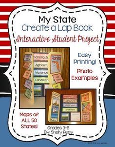My State Lap Book - SO fun for students and easy for teachers!  Includes maps of ALL 50 states, so it can be used for ANY state project!  LOVE!