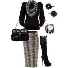 Houndstooth by aaronjillthomas on Polyvore featuring Ralph Lauren Black Label, Gucci, Sara Designs, Forever 21 and Casadei