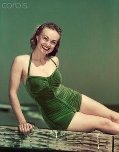 Vintage velvet bathing suit