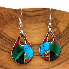 @Overstock - These alpaca silver earrings are handmade by female artisans in Mexico. This lovely jewelry features a mosaic of polished gemstones and resin in a teardop design. http://www.overstock.com/Worldstock-Fair-Trade/Alpaca-Silver-Gemstone-Teardrop-Earrings-Mexico/5754286/product.html?CID=214117 $19.34
