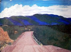 Going into the mountains, acrylics