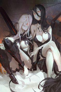 relax time for the abyssal girls Kancolle anime #animegirl